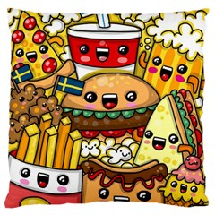 Cute Food Wallpaper Picture Large Flano Cushion Case (one Side)