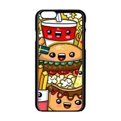 Cute Food Wallpaper Picture Apple Iphone 6/6s Black Enamel Case