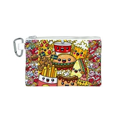 Cute Food Wallpaper Picture Canvas Cosmetic Bag (s)