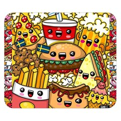 Cute Food Wallpaper Picture Double Sided Flano Blanket (small)