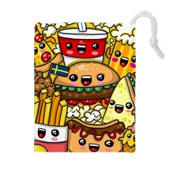 Cute Food Wallpaper Picture Drawstring Pouches (extra Large)