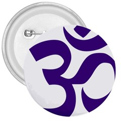 Hindu Om Symbol (Purple) 3  Buttons