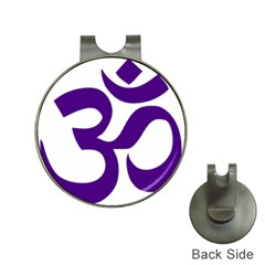 Hindu Om Symbol (purple) Hat Clips With Golf Markers