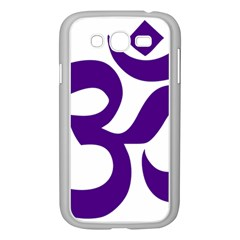 Hindu Om Symbol (Purple) Samsung Galaxy Grand DUOS I9082 Case (White)