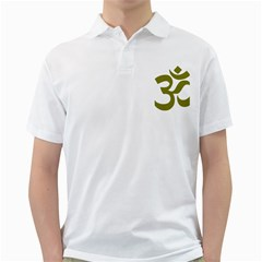 Hindi Om Symbol (Olive) Golf Shirts