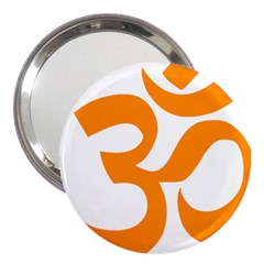 Hindu Om Symbol (Orange) 3  Handbag Mirrors