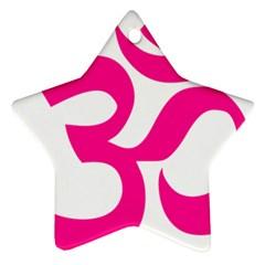 Hindu Om Symbol (Deep Pink) Ornament (Star)