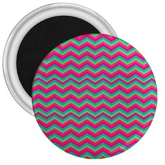 Retro Pattern Zig Zag 3  Magnets