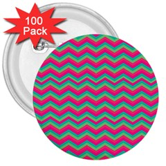 Retro Pattern Zig Zag 3  Buttons (100 Pack)