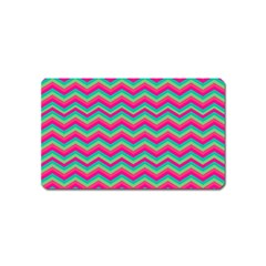 Retro Pattern Zig Zag Magnet (Name Card)