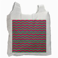 Retro Pattern Zig Zag Recycle Bag (Two Side)