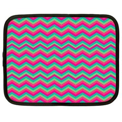 Retro Pattern Zig Zag Netbook Case (xxl)