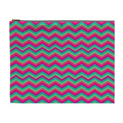 Retro Pattern Zig Zag Cosmetic Bag (xl)