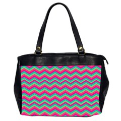 Retro Pattern Zig Zag Office Handbags (2 Sides)