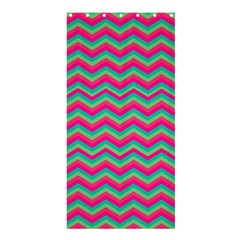 Retro Pattern Zig Zag Shower Curtain 36  x 72  (Stall)