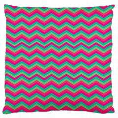 Retro Pattern Zig Zag Large Cushion Case (one Side)