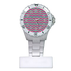 Retro Pattern Zig Zag Plastic Nurses Watch