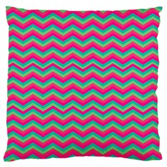 Retro Pattern Zig Zag Standard Flano Cushion Case (one Side)