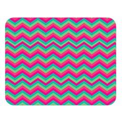 Retro Pattern Zig Zag Double Sided Flano Blanket (large)