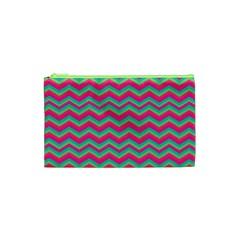 Retro Pattern Zig Zag Cosmetic Bag (xs)