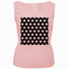 Star Egypt Pattern Women s Pink Tank Top