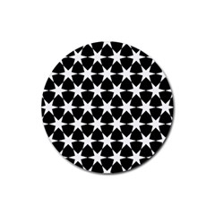 Star Egypt Pattern Rubber Round Coaster (4 Pack)