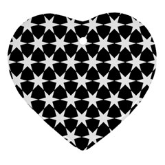 Star Egypt Pattern Heart Ornament (Two Sides)