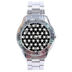 Star Egypt Pattern Stainless Steel Analogue Watch