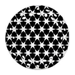 Star Egypt Pattern Round Filigree Ornament (two Sides)