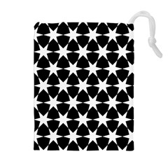 Star Egypt Pattern Drawstring Pouches (Extra Large)