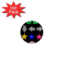 Cute Symbol 1  Mini Buttons (100 Pack)