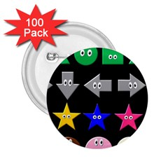 Cute Symbol 2.25  Buttons (100 pack)