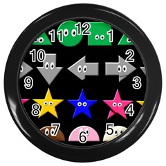 Cute Symbol Wall Clocks (black)