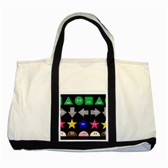 Cute Symbol Two Tone Tote Bag