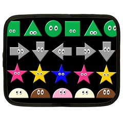 Cute Symbol Netbook Case (large)