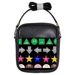 Cute Symbol Girls Sling Bags