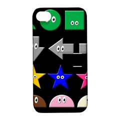 Cute Symbol Apple Iphone 4/4s Hardshell Case With Stand