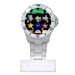 Cute Symbol Plastic Nurses Watch
