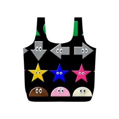 Cute Symbol Full Print Recycle Bags (s)