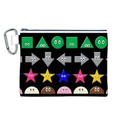 Cute Symbol Canvas Cosmetic Bag (L)