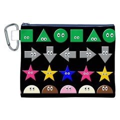 Cute Symbol Canvas Cosmetic Bag (xxl)