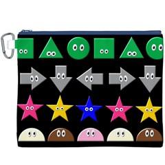Cute Symbol Canvas Cosmetic Bag (xxxl)