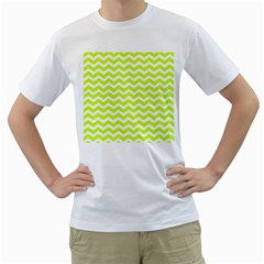 Chevron Background Patterns Men s T Shirt (white) (two Sided)