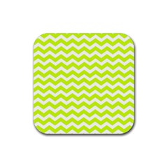 Chevron Background Patterns Rubber Square Coaster (4 Pack)