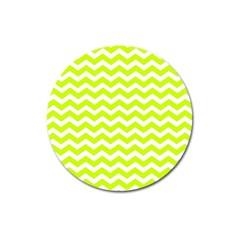 Chevron Background Patterns Magnet 3  (round)