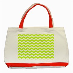 Chevron Background Patterns Classic Tote Bag (Red)