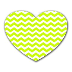Chevron Background Patterns Heart Mousepads