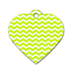 Chevron Background Patterns Dog Tag Heart (One Side)