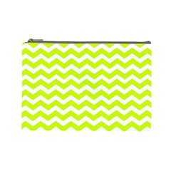 Chevron Background Patterns Cosmetic Bag (Large)