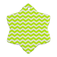 Chevron Background Patterns Snowflake Ornament (two Sides)